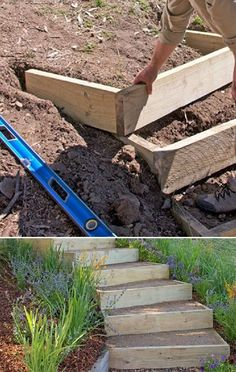 arkadasa… — Coming Soon How to build outdoor stairs … outdoors.arkadasa… — Coming Soon How to build outdoor stairs Plantas Indoor, Outdoor Steps, Garden Stairs, Patio Stairs, Backyard Patio Designs, Modern Backyard, Garden Landscaping, Landscaping Ideas, Steep Hillside Landscaping