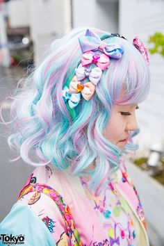 Harajuku Girl's Pastel Hair & Colorful Fashion w/ 6%DOKIDOKI, Milklim, Kinji, Uniqlo & Swimmer | Japanese Style & Kawaii | Pinterest