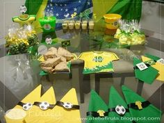 Decor Soccer Party, Birthday Party Themes, World Cup, Brazil, 1, Party Ideas, Food, Dates, Log Projects
