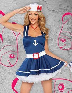 Sexy Costume | 3PC Sweet Sailor | Halloween Lane