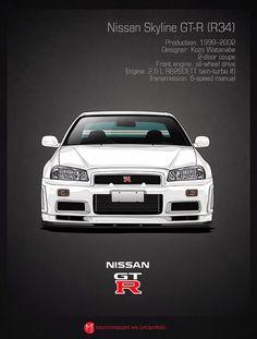 'Nissan Skyline GT-R by m-arts Nissan Gtr R34, Gtr Nismo, Skyline Gtr R34, Jdm Wallpaper, History Posters, Auto Retro, Japan Cars, Jdm Cars, Hot Wheels