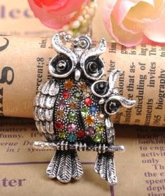 2PCS Tibetan Silver Owl family Charm Pendant Inlay Crystal 42MM JK1062 Owl Family, Witch Jewelry, Owls, Jewelry Making, Pendants, Charmed, Crystals, Silver, Ebay