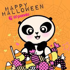 Halloween lil'panda -- all the candy a panda could want :) www.lilpanda.com