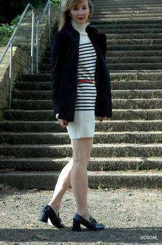 Ringelkleid mit Loafers. | Oceanblue Style at Manderley. Meer Mode Mut