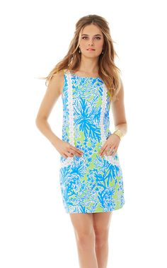 Classic shift dresses are in the Lilly Pulitzer DNA. We love them. We wear them often and we can't get enough. The Casey shift dress with lace is the shift you will want to wear to your next brunch or bridal shower - it's colorful and fun.