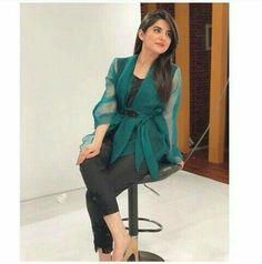 Sanam Baloch Pakistani Dress Design, Pakistani Dresses, Sanam Baloch Dresses, Fashion Outfits, Womens Fashion, Fashion Trends, Pakistani Actress, Get Dressed, Indian Beauty