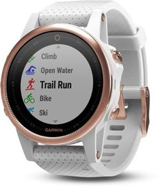 Garmin Fenix 5S Sapphire GPS Heart Rate Monitor Watch Rose Gold/Cararra White Regular
