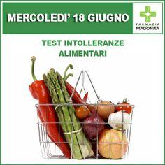Mercoledì 18 giugno potrai effettuare nella nostra farmacia il test sulle intolleranze alimentari (test eseguito su 54 elementi a €90 anzichè €120). #farmaciaallamadonna #farmacia #mestre #test àintolleranze #alimentari #cibo