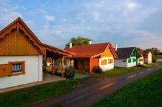Pató-hegyi Borház falu, Őrség Wine House, Homeland, Hungary, Beautiful Places, Places To Visit, Cottage, Cabin, House Styles, Modern