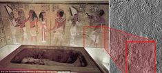 Scans of the north wall of King Tutankhamun's burial chamber have revealed features beneat...