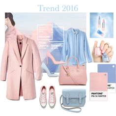 A fashion look from January 2016 featuring pink shoes, blue suede shoes and pink pumps. Pantone 2016, Furla, Rose Quartz, Converse, Clothes For Women, Polyvore, Serenity, Fashion, Trending Fashion
