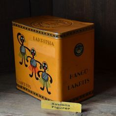 Hangon lakritsipurkki, wanhantalontavarat Vintage Tins, Retro Vintage, Tin Boxes, Origami, Nostalgia, History, Garden, Design, House