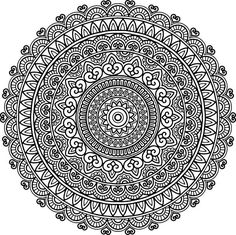 Figure mandala for coloring good mood vector art illustration Mandala Art Lesson, Mandala Doodle, Mandala Drawing, Mandala Painting, Dot Painting, Doodle Art, Mandala Pattern, Mandala Design, Zentangle Patterns