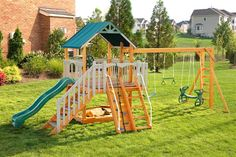 I want a big yard, so Karson can have an awesome swingset!