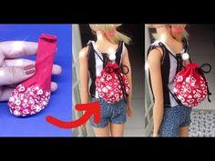 """How to Make Barbie Doll Clothes"" - (Singlet) Easy! Sewing Barbie Clothes, Barbie Clothes Patterns, Sewing Dolls, Diy Clothes, Barbie Fashionista, Barbie E Ken, Barbie Dolls, Lps, Diy Doll"