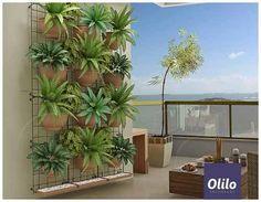 Painel Jardim Vertical Modular Ferro 43x43cm - Olilo - R$ 79,00