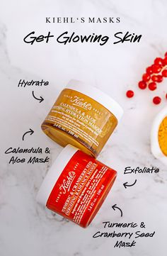 Enjoy a little time to yourself while you multi-mask with our nature-inspired Tumeric & Cranberry Seed Energizing Radiance Mask and Calendula & Aloe Soothing Hydration Mask. To get your skin glowing , follow these simple steps: 1. Apply our Tumeric & Cranberry Seed Energizing Radiance Mask to your t-zone. 2. Add our Calendula & Aloe Soothing Hydration Mask to your cheeks. 3. Rinse. Feel and look glowy!