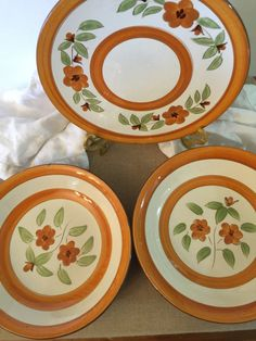 Stangl Pottery 2 Soup Bowls 1 Salad or by PineStreetPickers & Stangl Posies Salad Plates Set of 4 Vintage Stangl Pottery Small ...