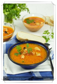 Receta de sopa de pescado Mexican Food Recipes, Soup Recipes, Vegetarian Recipes, Recipies, Seafood Soup, Seafood Dishes, Bisque Recipe, Colombian Food, Peruvian Recipes