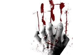 hand, blood, red, white, ring