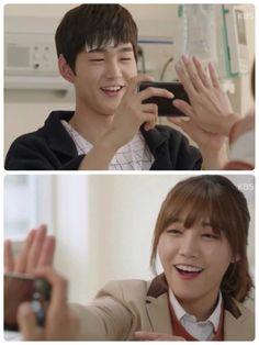 Cheer Up! Joy in spite of pain.  Kim Yeol and Kang Yeon Doo. (Lee Won Geun and Jung Eun Ji)