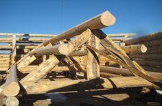 Log Truss in log home kit. #loghomes #loghomekit