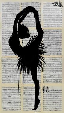 "Artist: Loui Jover; Ink 2014 Drawing ""demi pointe"""