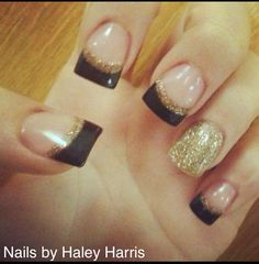 Nails I did when I was in Cosmo School;) Nails by Haley Harris