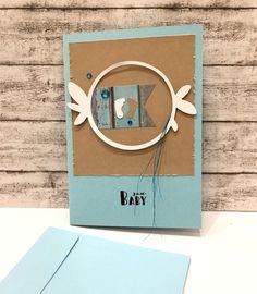 Glückwunschkarten - Babykarte KRANZ & BABYFÜßE - ein Designerstück von POMMPLA bei DaWanda