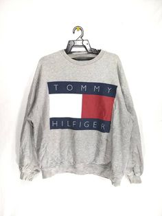 5d4eca2498 Excited to share this item from my  etsy shop  Vintage Tommy Hilfiger  sweatshirt Big