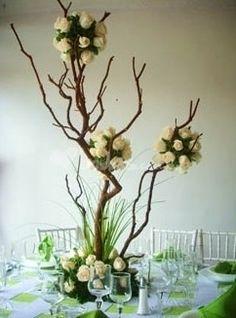 Decoración con ramas - bodas.com.mx