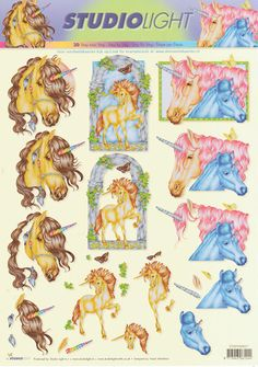 Unicorn Decoupage 3D sheet