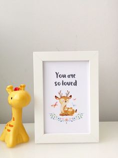 A personal favourite from my Etsy shop https://www.etsy.com/listing/275684752/nursery-art-you-are-so-loved-in-picture