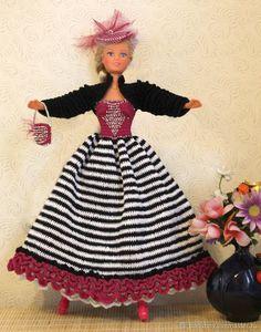 Принцесса цирка Барби – купить или заказать в интернет-магазине на Ярмарке Мастеров | Комплект одежды для барби связан крюком из х/б…