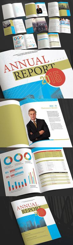 Annual Report Reviev Brochure Annual reports, Brochures and - business annual report template