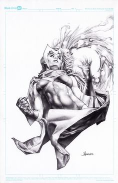 Scarlet Witch by Jay Anacleto Comic Art