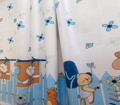 Látky Bára -  - Bavlna, Kočičky na zahradě, bordura modrá, š. 140 cm, 10 cm