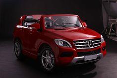 Vehículo infantil 12v Mercedes ML350 rojo dos plazas RC, IndalChess.com Tienda de juguetes online y juegos de jardin