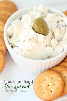 Three Ingredient Olive Spread Recipe - The Taylor House Yummy Appetizers, Appetizer Recipes, Snack Recipes, Cooking Recipes, Dip Recipes, Olive Recipes, Keto Snacks, Antipasto, Olive Spread