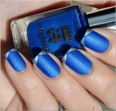A england - Order of the Garter. China Glaze - Millennium for v-shaped french tips. Matte top coat.