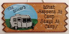 CAMPER SIGN Personalized Name Camp Camping by 3CraftyMillers