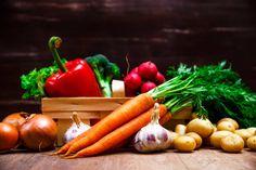 potatoes carrot and pepper salad garlic