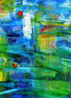 This looks really familiar... Abstract painting, oil on canvas:  Summer Time By Gerard Stricher