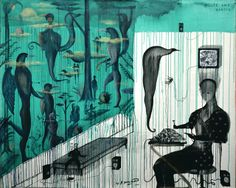 Bill Hammond — House and Garden urban surrealism Magritte, Art Auction, Macabre, Perception, Birds, Urban, Artists, Tattoo, Heart