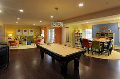 What a fun bright family room via bktribe.blogspot
