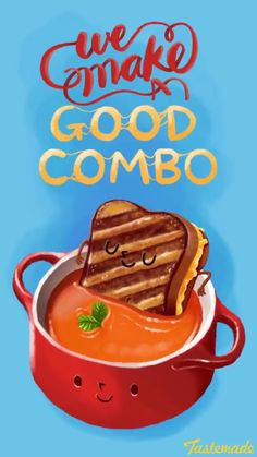 We make a good combo. Illustrated by jolinong. Media illustration by Tastemade on snapchat