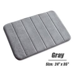 Bath Rugs Doormat Kitchen Carpet Absorbent Memory Foam Bathroom Shower Floor Mats Pad Non Slip Back Super Soft 60cm X 40cm 1p