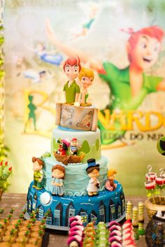 Incredible cake at a Peter Pan birthday party! See more party planning ideas at CatchMyParty.com!