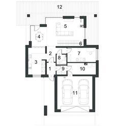 DOM.PL™ - Projekt domu PPE KLASYCZNY D33 CE - DOM EG1-26 - gotowy koszt budowy House Plans, Floor Plans, How To Plan, Dom, House Floor Plans, Home Plans, Floor Plan Drawing