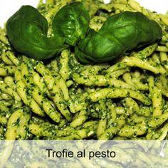trofie al pesto - traditional Ligurian dish